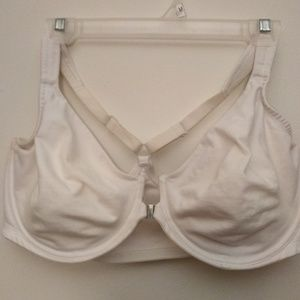 White Cacique racerback front close bra - 44DD